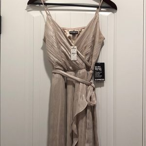 Gold Express high-low dress size small.